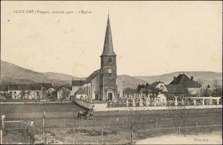 Saint-Amé (Vosges), altitude 400 m, L'Église
