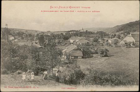 Saint-Jean d'Ormont (Vosges), Arrondissement de Saint-Dié, Altitude 412 mè…