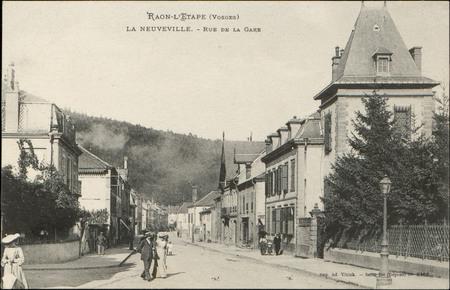 Raon-l'Etape (Vosges), La Neuvevile, Rue de la Gare