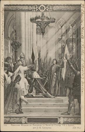 Peintures Murales du Panthéon, Sacre de Charles VII à Reims […]