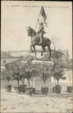 Castres, Statue de jeanne d'Arc, (Inaugurée le 13 avril 1914)