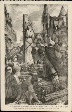 Peintures Murales du Panthéon, […] Ste-Jeanne d'Arc brûlée à Rouen en 1431