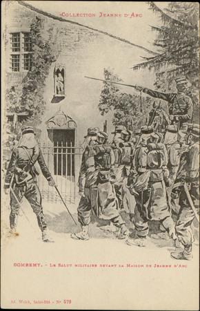 Domrémy, Le Salut militaire devant la maison de Jeanne d'Arc