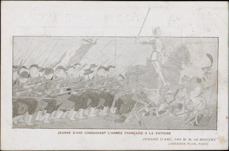 Jeanne d'Arc conduisant l'armée française à la victoire