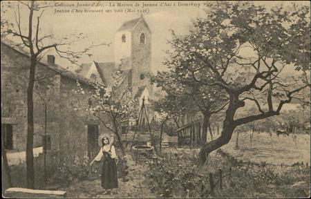 La Maison de Jeanne d'Arc à Domrémy, Jeanne d'Arc écoutant ses voix (Mai 1…