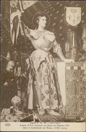 Musée du Louvre […], Jeanne d'Arc assistant au sacre de Charles VII dans l…