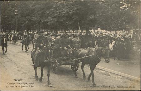 Nancy, Cortège historique, 1909, La Famille de Jeanne d'Arc