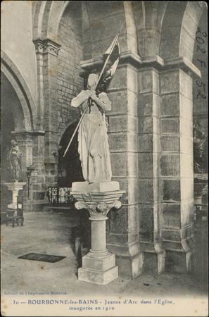 Bourbonne-les-Bains, Jeanne d'Arc dans l'Église inaugurée en 1910