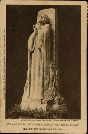 Jeanne d'Arc au bûcher, Place du Vieux-Marché, Rouen (La Prière pour la Fr…