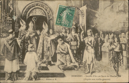 Domrémy, Jeanne d'Arc au Sacre de Charles VIII (d'après une vieille gravur…