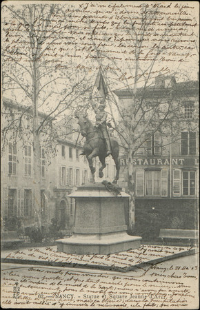 Nancy, Statue et square Jeanne d'Arc