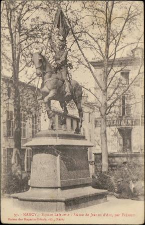 Nancy, Square Lafayette, Statue de Jeanne d'Arc par Frémiet