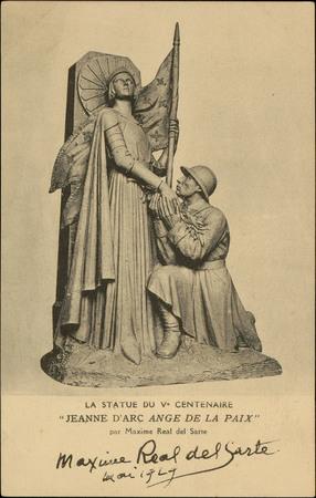 """La Statue du Ve Centenaire """"Jeanne d'Arc ange de la Paix"""" par Maxime Real …"""