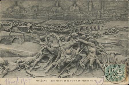 Orléans, Bas-relief de la Statue de Jeanne d'Arc