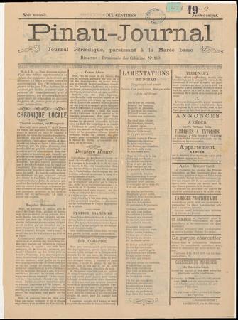 Pinau-Journal : Journal périodique paraissant à la marée basse