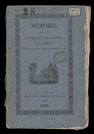 Mémoire sur les antiquités du Donon