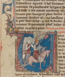 Godefroy de Bouillon et ses soldats partent pour la première croisade