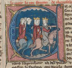 Le roi Foulques et la reine Melisende en promenade