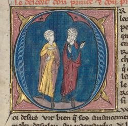 Renaud de Châtillon se querellant avec le prélat