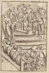 L'évêque Théodoric et le premier échevin de Metz