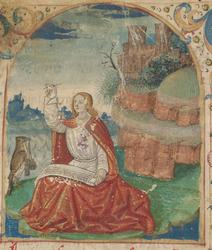 Saint Jean écrivant