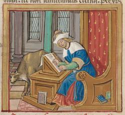 Saint Luc écrivant