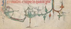Combat entre un archer et un chevalier
