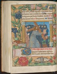 Le Portement de la Croix entourée d'une bordure décorée