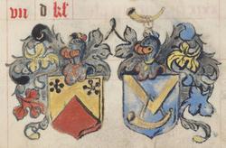 Blasons de la famille de Latourte et Rodoüan