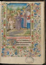 La Résurrection de Lazare et bordure décorée