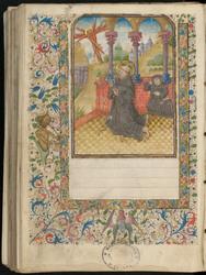 Saint François recevant les stigmates et bordure décorée