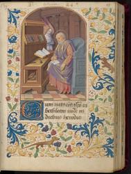 Saint Matthieu et bordure décorée