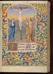 Le Christ en croix et bordure décorée