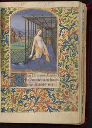 Bethsabée au bain et bordure décorée