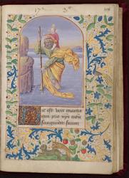 Saint Christophe et bordure décorée
