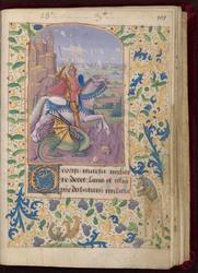 Saint Georges et bordure décorée