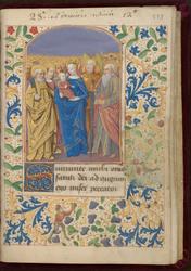 La Vierge à l'Enfant et tous les saints et bordure décorée