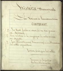 Histoire manuscrite d'un vétéran de l'ancienne armée