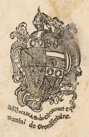 Armoiries d'Henri-Antoine Régnard de Gironcourt