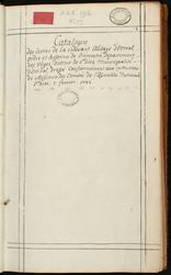 Catalogue de l'abbaye d'Etival