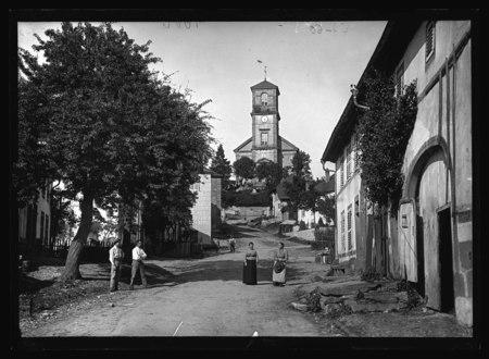 Lusse – Grande rue et église