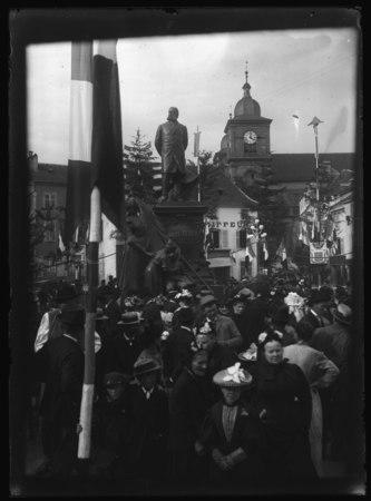Saint-Dié - Statue de Jules Ferry le jour de l'inauguration