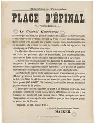 République française. Place d'Epinal... un grand nombre de territoriaux et…