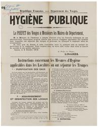 République française. Département des Vosges. Hygiène publique... l'instru…