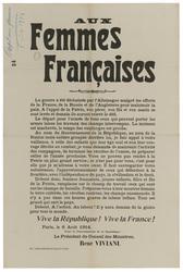 Aux femmes françaises. Le départ pour l'armée de tous ceux qui peuvent por…
