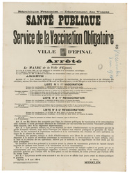 République française. Département des Vosges. Santé publique. Service de v…