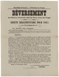 République française. Préfecture des Vosges. Déversement des résidus indus…