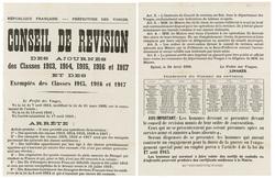 République française. Préfecture des Vosges. Conseil de révision des ajour…