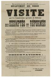 République française. Département des Vosges. Visite par les commissions s…