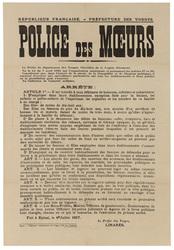République française. Préfecture des Vosges. Police des moeurs... dans l'i…